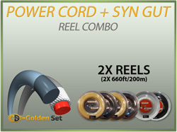 Power Cord + Synthetic Gut Reel Combo