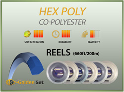Hex Poly Reels (660ft/200m)
